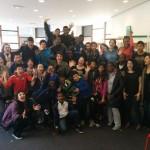 Féloche avec la classe d'accueil du collège Diderot d'Aubervilliers