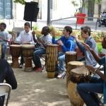 Restitution de l'atelier percussions haïtiennes avec Atissou au collège Balzac de Neuilly sur Marne