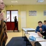 Pauline MAUVE-BUCHPAN en intervention en classe pour le projet Zebrock au bahut