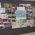 Exposition de travaux d'élèves lors du concert final