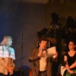 Marie Richard, Edgard Garcia et Pauline Mauve-Buchpan félicitent les enseignants et leurs élèves pour leur investissement dans le projet Zebrock au bahut