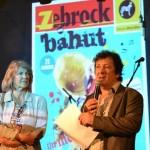 Marie Richard, Vice-Présidente chargée de l'éducation et de l'enseignement supérieur et Edgard Garcia, directeur de Zebrock lors du concert final de Zebrock au bahut en Seine-et-Marne