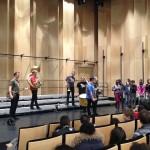 06.03. 2015: restitution de l'atelier avec Nicolas Haas à l'Auditorium de Bondy avec la classe ULIS du collège Henri Sellier