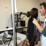 La classe ULIS du collège Sellier de Bondy et Nicolas Haas enregistre  en studio leur chanson