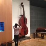 L'octobasse, lors de la visite du Musée de la Musique