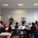 03.2015: Marie tout court et son guitariste Ronan Yvon animent un atelier d'écriture de chansons au collège Jean Zay de Bondy (parcours CAC)