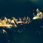 12.03.2015: Rencontre entre la classe ULIS du collège René Cassin de Noisy-le-Sec avec F.M au Théâtre des Bergeries