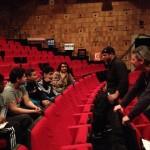 03.04.2015: La classe de 4è du collège Fabien de Saint-Denis rencontre Mike Ladd et Hubert Dupont à l'espace 1789 de Saint-Ouen (partenariat avec Banlieues bleues)